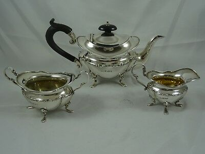 PRETTY EDWARDIAN silver `BACHELORS` TEA SET, 1907, 563gm