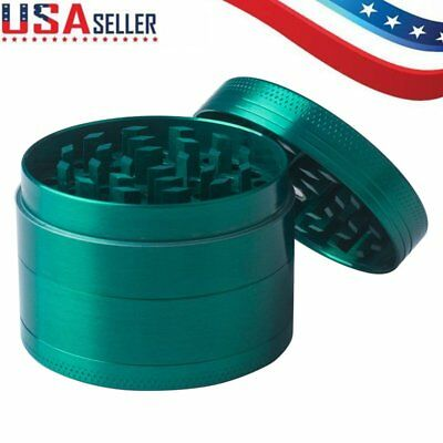 Tobacco Herb Spice Grinder 4-piece Herbal Alloy Smoke Metal Chromium Crusher US