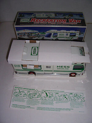 HESS 1998 TOY Recreation Van with car & motorcycle with BOX