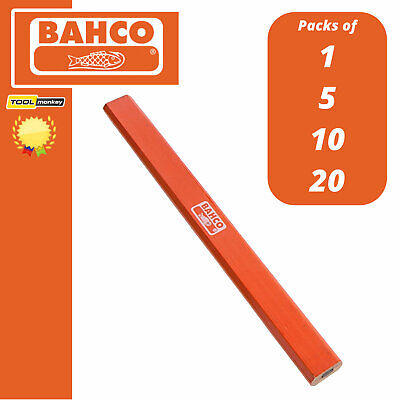 Bahco HB Grade Joiners Pencils, Builders, Carpenters, Woodwork 1 - 5 - 10 - 20