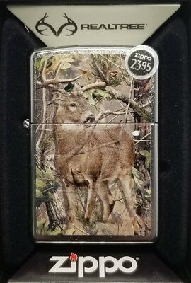 Zippo 29310 Full Size Street Chrome Realtree w/ Deer Windproof camo Lighter New