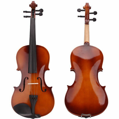 Student 4/4 Full Size Natural Acoustic Violin Fiddle with Case Bow Rosin Wood US