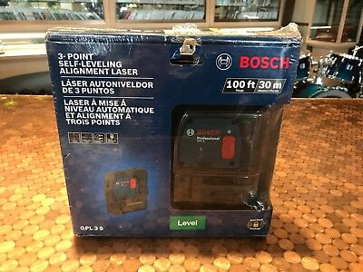 New! Bosch 3-Point Self Leveling Alignment Laser GPL 3S