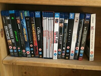 bluray collection 1st class condition MOST ARE 3D MOVIES See list