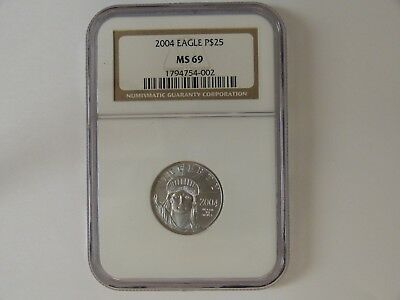 2004 Eagle P$25 Ms69 Ngc 1/4Oz .9995 Platinum Coin #2