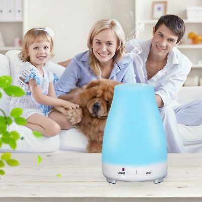 Essential Oil Diffuser 200ml Ultrasonic Aroma Humidifier Mist 7 LED Aromatherapy