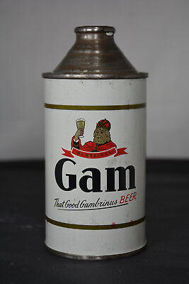 Gam Beer cone-top can, August Wagner Breweries, Columbus, OH