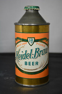 Heidel-Brau Beer cone-top can, Sioux City Brewing, Sioux City, IA