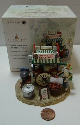 Dept 56 Seasons Bay Fresh Seafood By The Shore 56-53604 Scallops Chowder Lobster