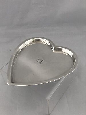Edwardian Silver Sterling Heart Shaped Trinket Tray 1901 London