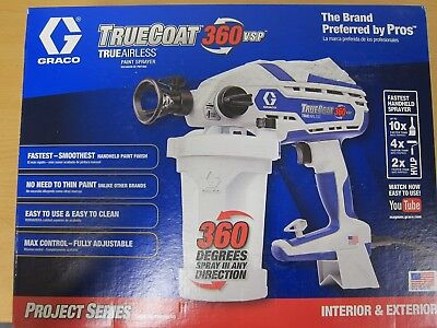 NEW Graco TrueCoat 17D889 360 Variable Speed Electric Airless Paint Sprayer