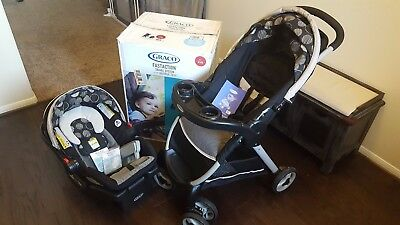 Graco Fast Action Travel System with SNUGRIDE 30 LX - Car Seat, Base & Stroller