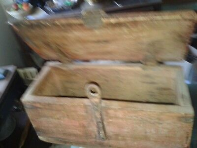 antique wood tool box tractor machinery car lorry vintage hand made