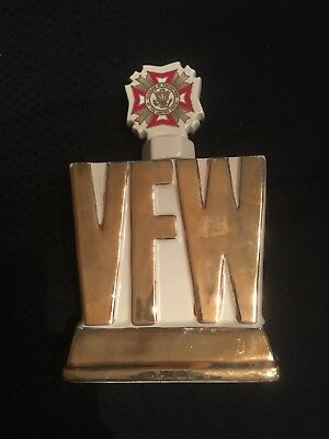 VFW Decanter--1974 Ezra Brooks Vintage Decanters--24 Karat Gold Heritage China