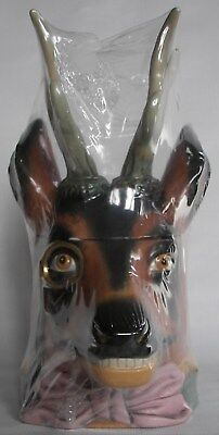 Deer Head character beer stein with Antlers, made by Gerz