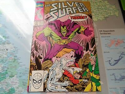 Silver Surfer 37 (1990) Drax of Guardians of the Galaxy, Thanos Infinity War
