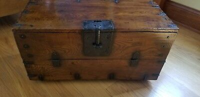 **REDUCED** Antique Korean Dowry Small Chest - Imported from S. Korea #4