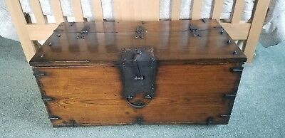 **REDUCED** Antique Korean Dowry Small Chest - Imported from S. Korea #3