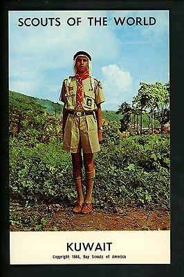 Scouting postcard chrome Boy Scouts of the World 1968 Series Kuwait