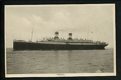 Ship postcard Ocean Liner Roma of North America Express Line Italy Vintage