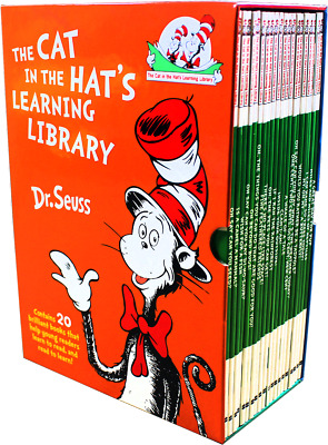 NEW Dr Seuss Cat In The Hat Learning Library 20 Book Box Set, Children Fun Learn