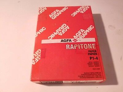 "New Old Stock, Sealed, 100 Box AGFA Rapitone P1-4, 5"" X 7"" Glossy Photo Paper"
