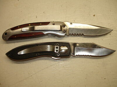 Pair Of Semi Serrated Winchester And Smith & Wesson Knives
