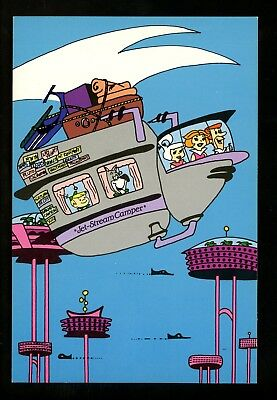 Movie / TV Television Show chrome postcard The Jetsons comic
