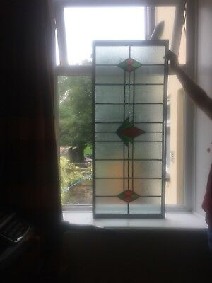 Antique/Vintage Leaded Stained Glass Window Panel