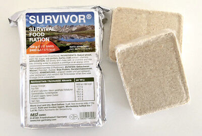 SURVIVOR Biscuits 125g Emergency Food Ration MRE German NATO