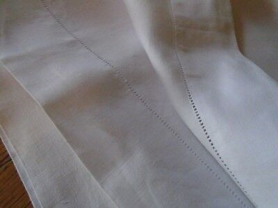 Pair Of Vintage Pure Irish Linen  Pillowcases -  Laddder Hems