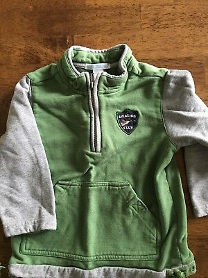 Janie And Jack 1/4 Zip Sweatshirt 3t