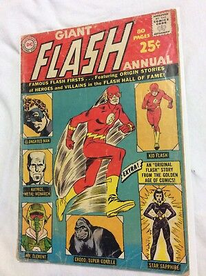 FLASH ANNUAL #1 G, 80 Page Giant, DC Comics 1963