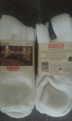 "FOX RIVER Running Wool Blend SOCKS ""ATHLETIC"" CREW (XL Size 12)"