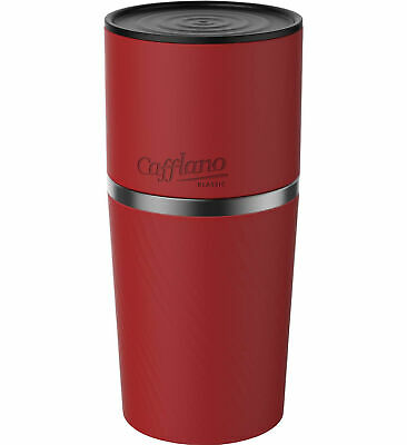 Cafflano Cafflano Klassic Red Travel All in One Coffee Maker Pour Over Gadgets