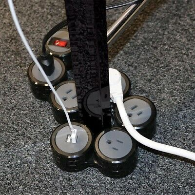 Surge Protector Power Strip with USB, Flexible 4 Rotating Pivot Outlets, 6ft