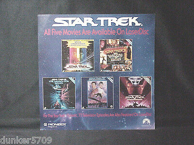 Star Trek Laser Disc Advertisement Pioneer Paramount Co. 1980's