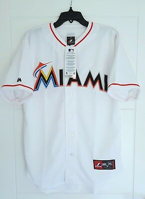 MAJESTIC MIAMI MARLINS MLB Official Baseball Jersey Shirt Authentic Men's Large