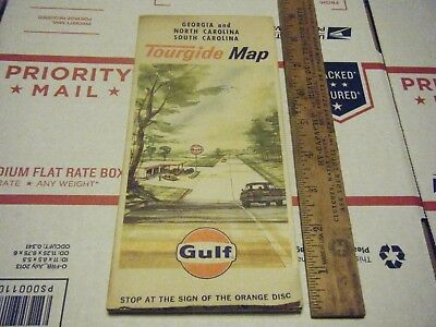 Vintage 1966 Gulf Gas Station Map