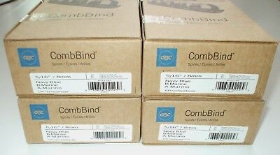 "Gbc Combbind Spines 5/16"" Dia. 40 Sheet Capacity, Navy Blue, 4 Box's 400 Total"
