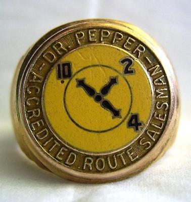 DR. PEPPER ACCREDITED ROUTE SALESMAN 10K gold ring