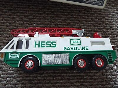 Hess Truck Emergency Ladder Fire Truck Toy - 1996
