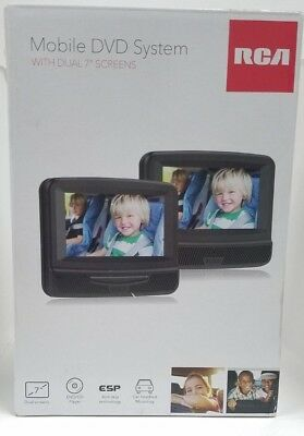 """RCA DRC69705E22 7"""" Dual Screen Mobile DVD System With Remote Brand New"""