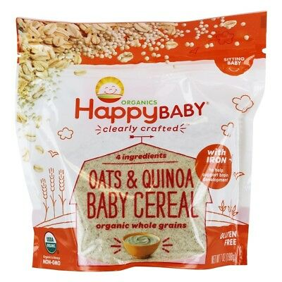 Happy Family - Happy Baby Organic Clearly Crafted Baby Cereal Oatmeal with Iron