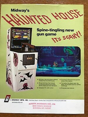 Haunted House  Midway's Video arcade Gun Game flyer