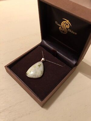 Iona Green Marble Necklace And Pendant Two Skies Silver