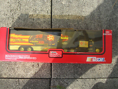 NASCAR Truck Davey Allison Havoline 28 :43 Racing Team Transporter Ford 1993 OVP