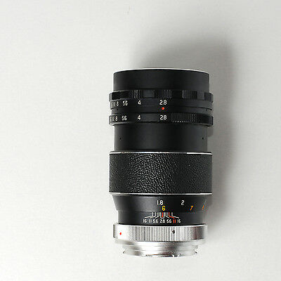 Hanimex 135 mm F:2.8 manual focus tele lens for Minolta SLR camera - 135mm F2.8