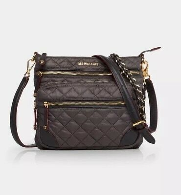 2400f979a6 MZ WALLACE QUILTED Downtown Crosby Crossbody Magnet Gray Purse Handbag -   259.00
