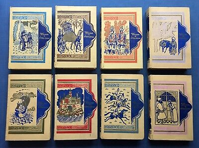1958 Russian Soviet Set of 8 Books Arab Fairy Tale 1001 Thousand and One Nights